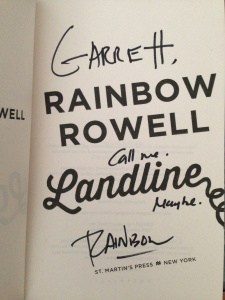 Landline Signed by Rainbow Rowell
