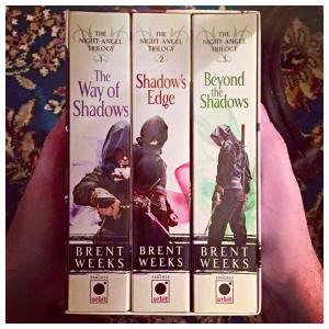 the way of the shadows, shadow's edge, beyond the shadows, brent weeks